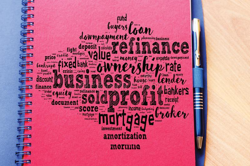 Profit word cloud collage stock image