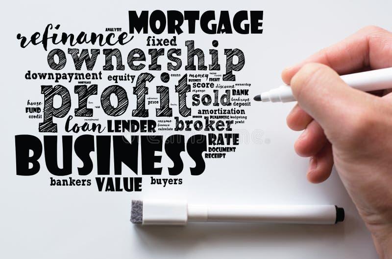 Profit word cloud collage stock photo