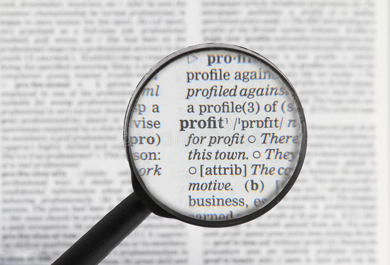 Download Profit word in dictionary stock image. Image of glass - 21059797