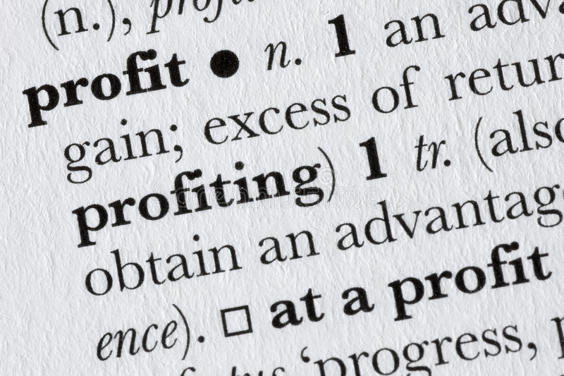Download Profit Word Dictionary Definit Stock Photo - Image: 4710906