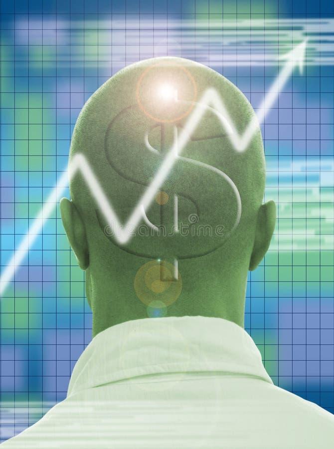 Profitable brain royalty free illustration