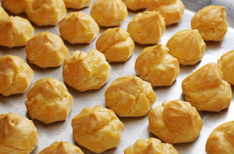 Profiterole delicioso del beignet imagen de archivo