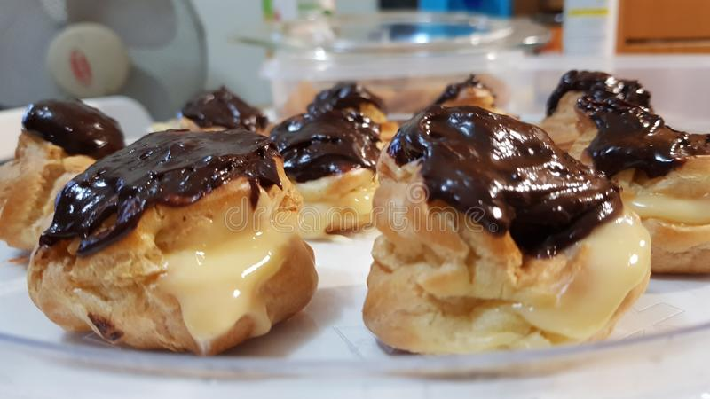 Profiteroles stock photography