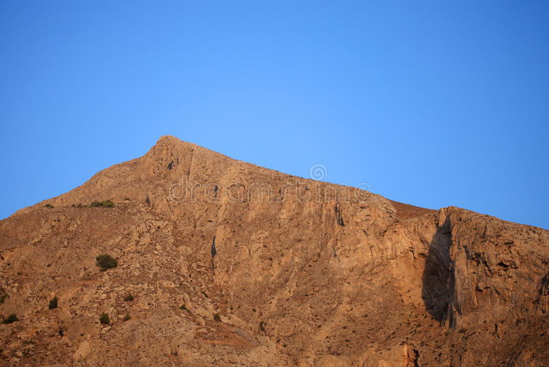 Profitis Elias Mountain nella mattina fotografie stock libere da diritti