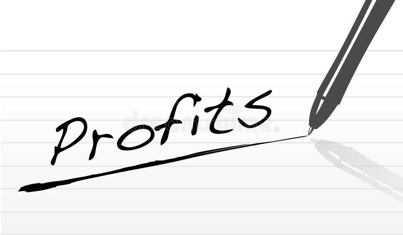 Download Profits stock vector. Image of white, isolated, gradient - 17700808