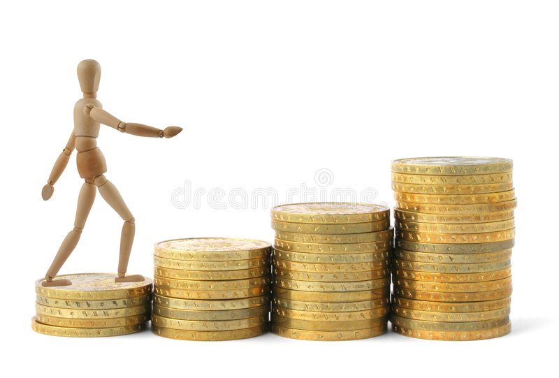Profits growth royalty free stock image