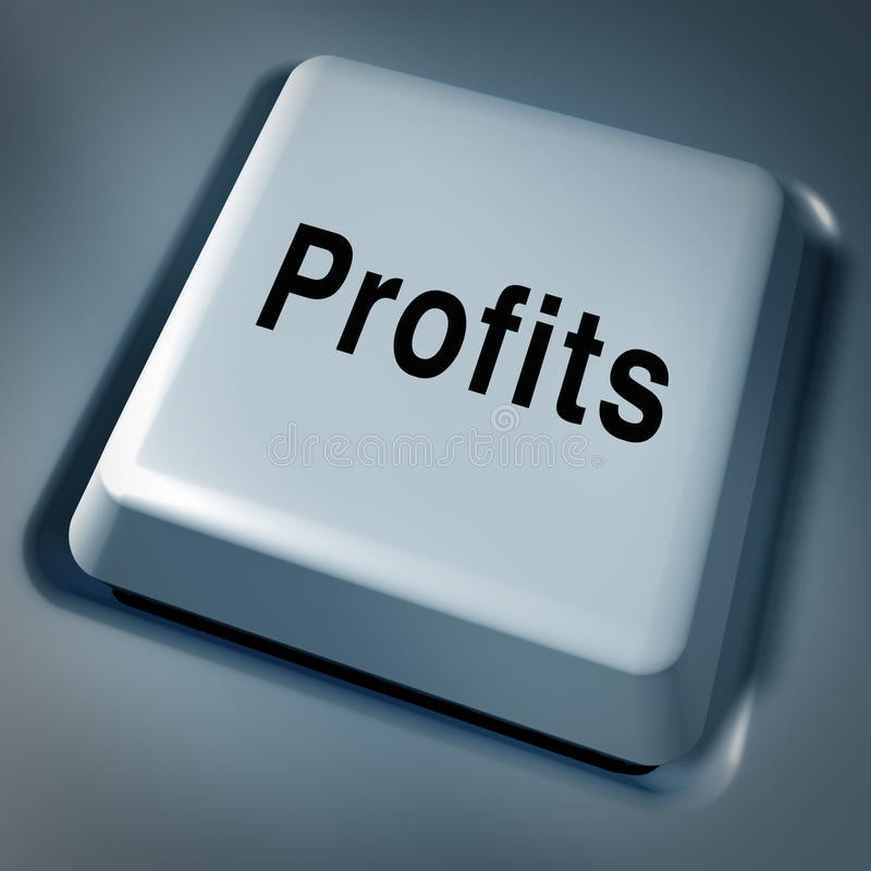 Profits wealth money success award key