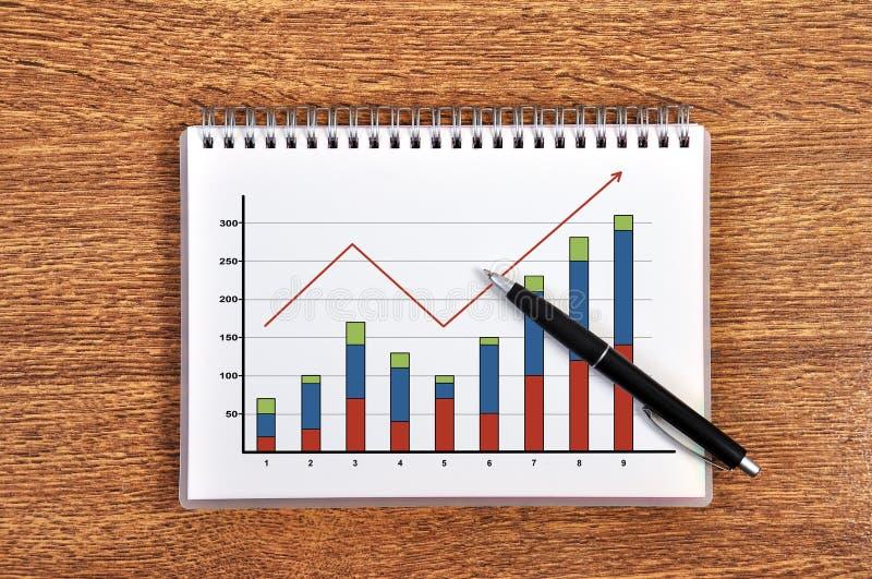 Profitti di crescita di schema immagini stock
