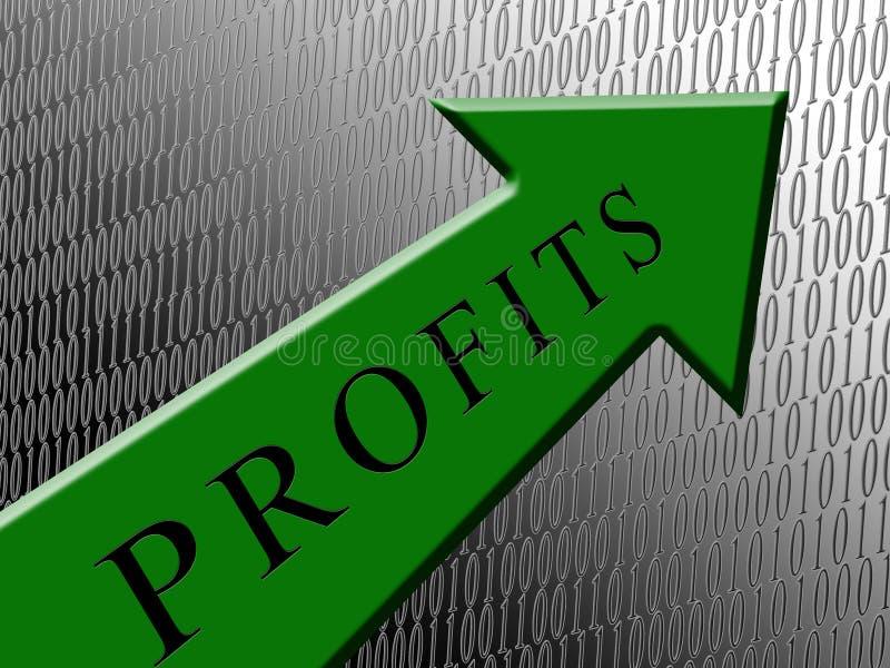 Profitti verdi della freccia illustrazione vettoriale