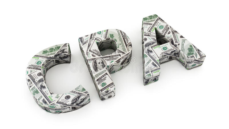 Profitto di CPA illustrazione di stock