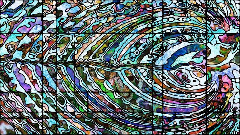 Profondeur de verre plombé illustration stock