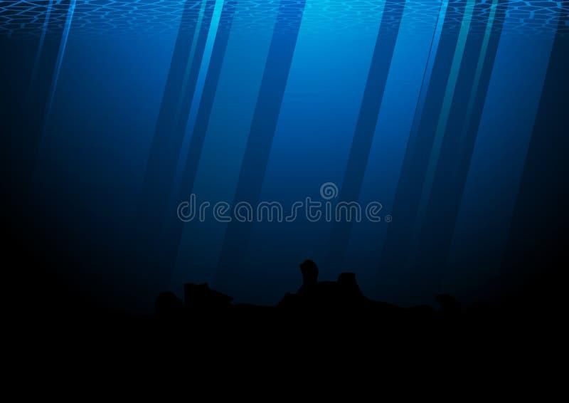 In profondità dell'illustrazione di vettore dell'oceano Pacifico royalty illustrazione gratis