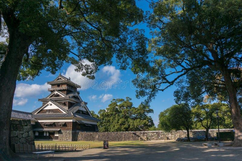 Profundamente no castelo de Fukuoka foto de stock
