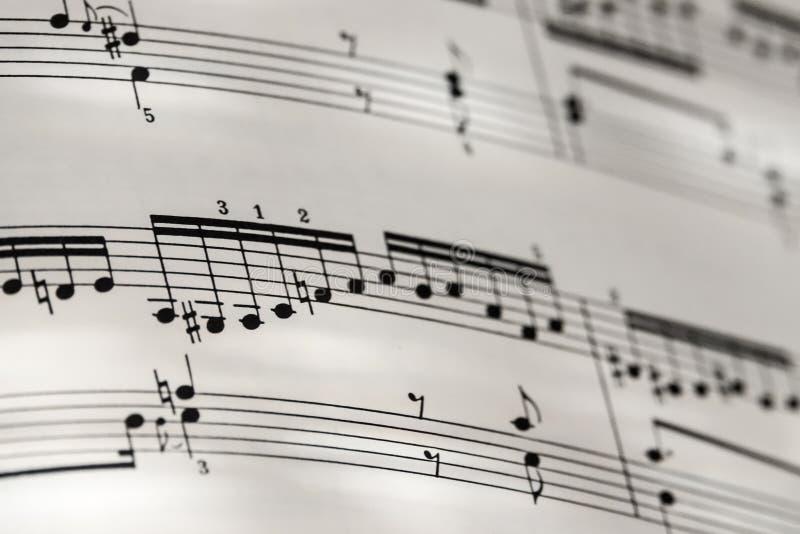 Profundidades perfeitas de Bach Goldberg do fundo da notação de música baixas do fi foto de stock