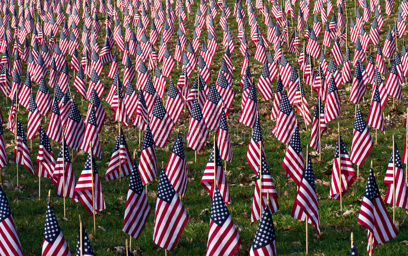 A Profusion of Flags stock photo