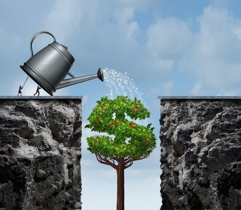 Progettando per il successo finanziario illustrazione vettoriale