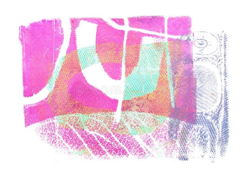 Progettazione acrilica astratta fatta a mano su fondo di carta acquerello illustrazione vettoriale
