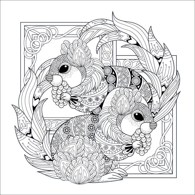 Progettazione adorabile dello scoiattolo illustrazione di stock