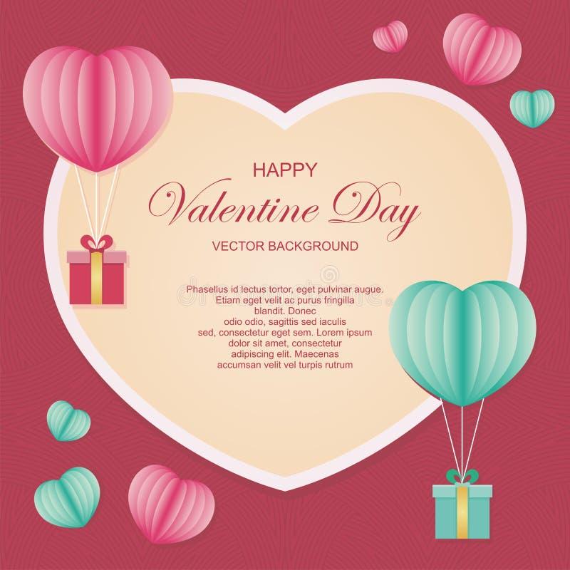 Progettazione adorabile ed alla moda del fondo di vettore di giorno di S. Valentino illustrazione di stock