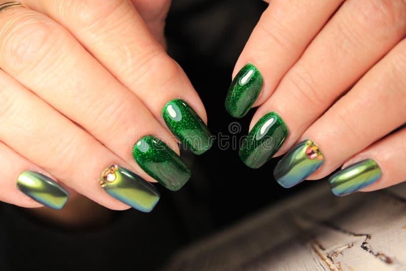 Progettazione alla moda del manicure immagini stock