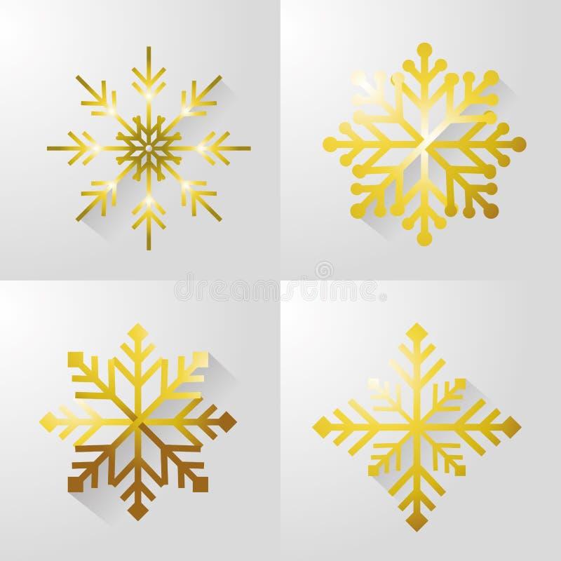 Progettazione allegra stabilita della neve di christamas illustrazione di stock