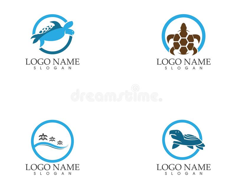 Progettazione animale dell'illustrazione di vettore di immagine dell'icona del fumetto della tartaruga illustrazione di stock