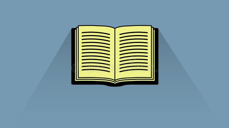 Progettazione aperta dell'icona del libro fotografie stock