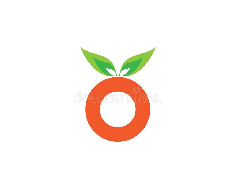 Progettazione arancio di logo illustrazione vettoriale