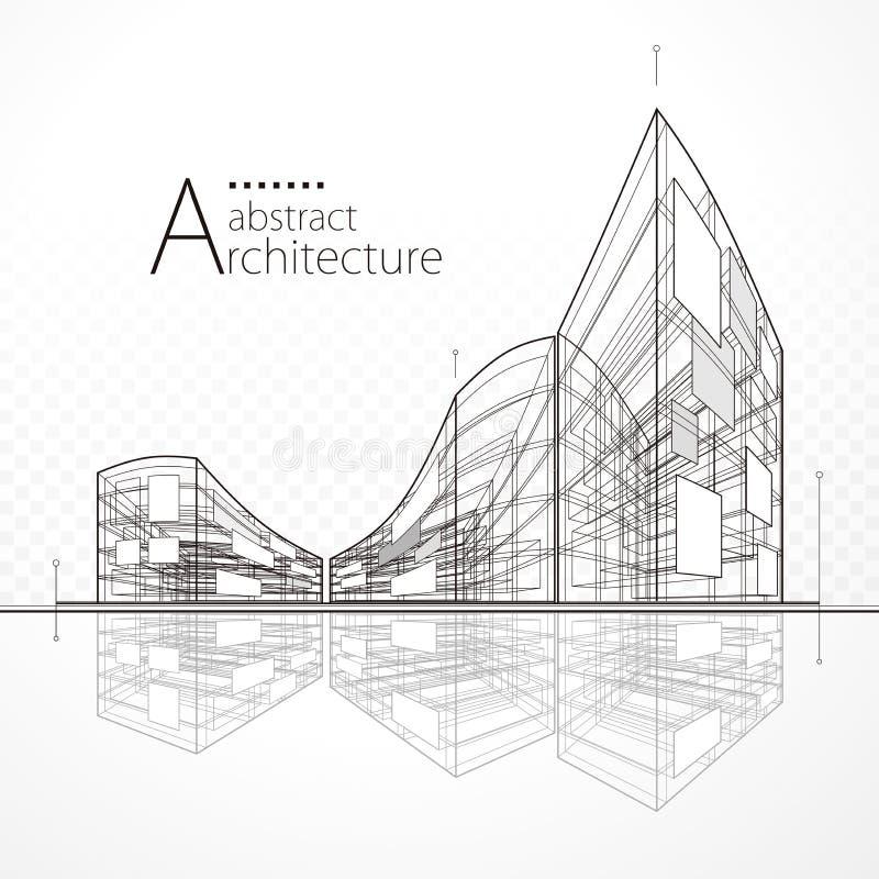 Progettazione astratta architettonica illustrazione vettoriale