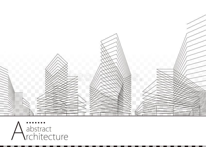 Progettazione astratta architettonica illustrazione di stock