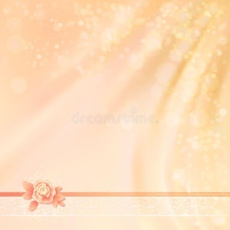 Progettazione astratta del fondo del tessuto di nozze illustrazione di stock
