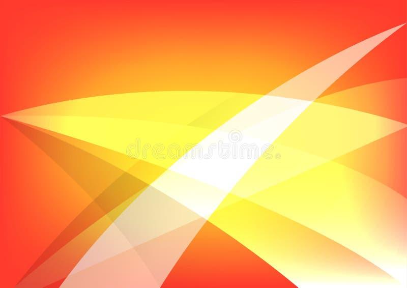 Progettazione astratta del fondo di colore caldo ed arancio Illustrazione di vettore royalty illustrazione gratis