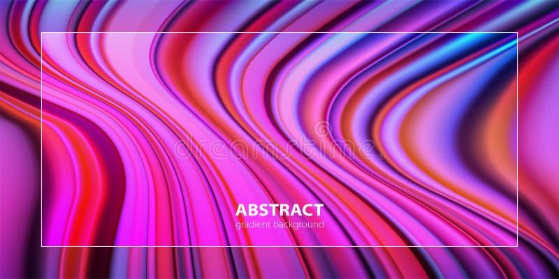 Progettazione astratta del fondo di colore di pendenza Manifesti futuristici di progettazione illustrazione di stock