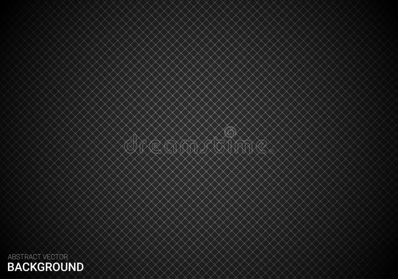 Progettazione astratta del fondo di pendenza del nero del quadrato di vettore fotografia stock