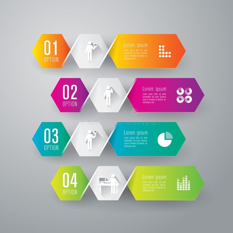 Progettazione astratta del modello di infographics. illustrazione di stock