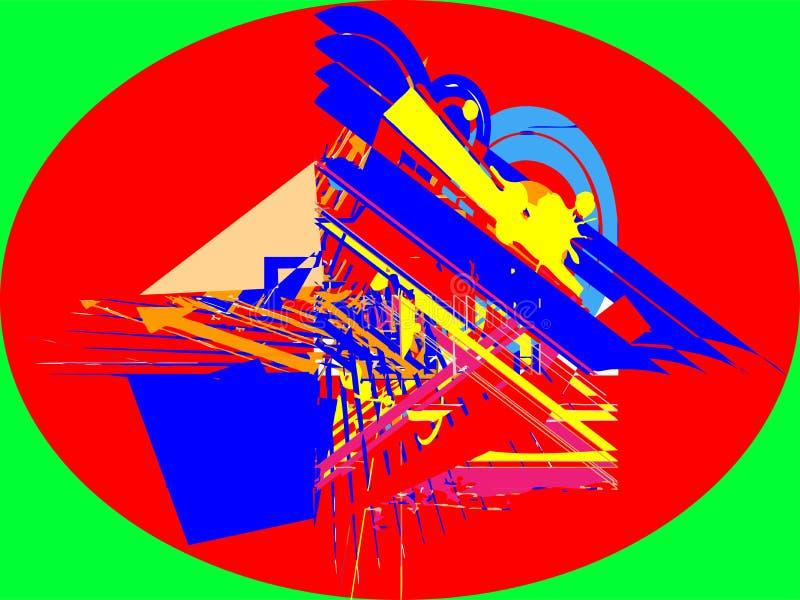 Progettazione astratta del quadrato del cerchio immagine stock libera da diritti