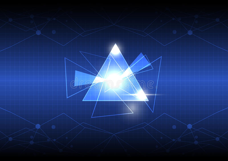Progettazione astratta del triangolo royalty illustrazione gratis