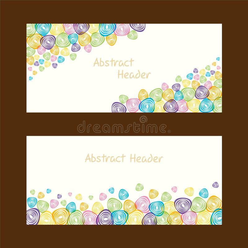 Download Progettazione Astratta Dell'intestazione Di Forma Illustrazione Vettoriale - Illustrazione di immagine, tono: 56883766