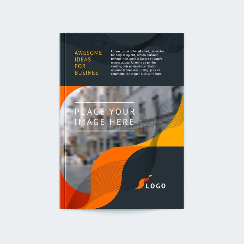 Progettazione astratta della copertura, modello dell'opuscolo di affari royalty illustrazione gratis