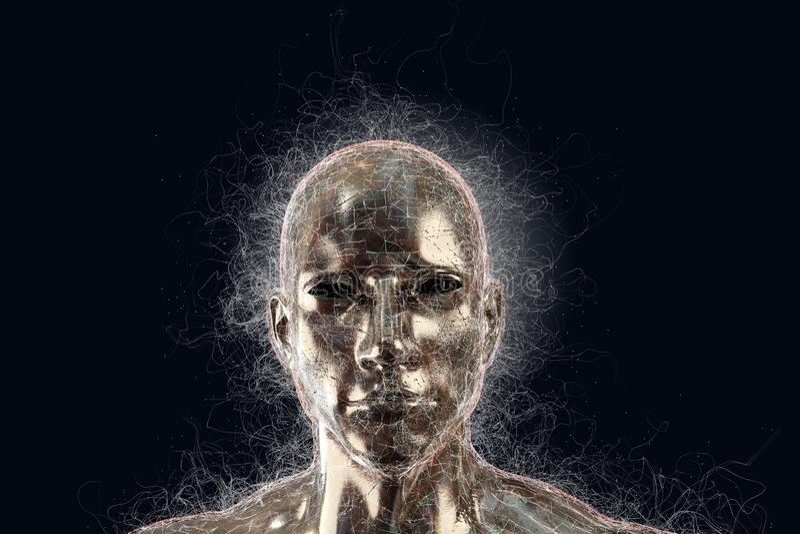 Progettazione astratta della testa umana immagine stock