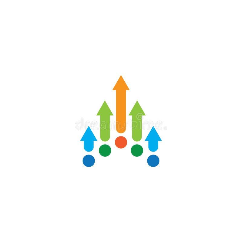 Progettazione astratta di logo di affari della freccia illustrazione di stock