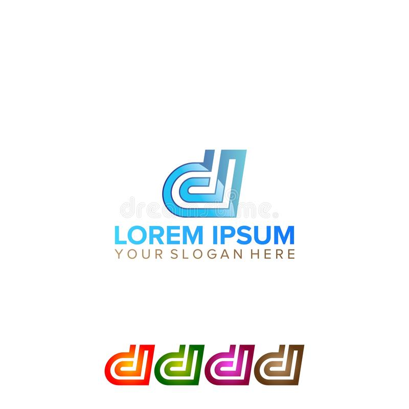 Progettazione astratta di logo della lettera di D royalty illustrazione gratis