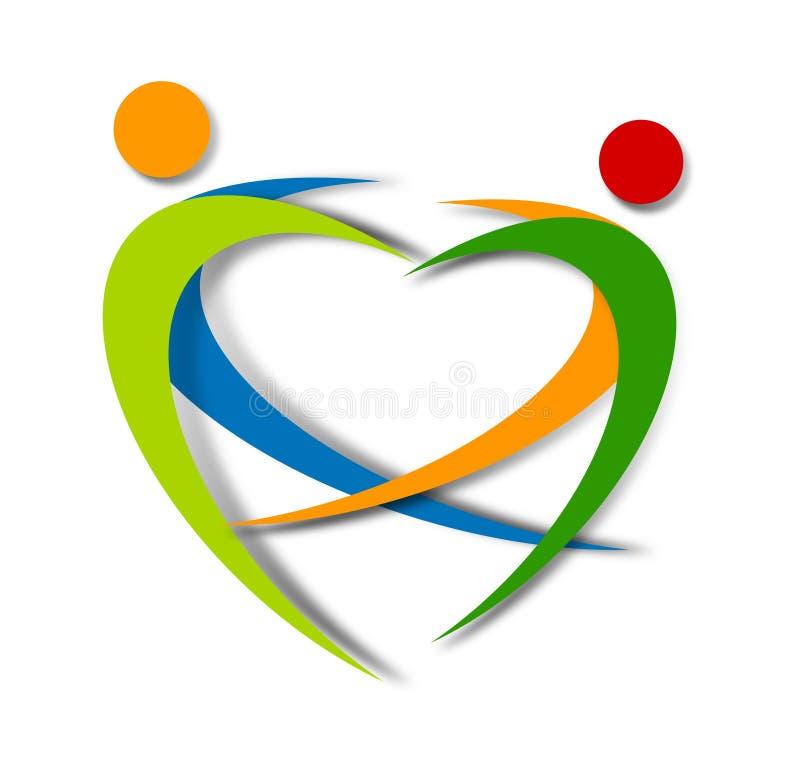 Progettazione astratta di logo di benessere illustrazione di stock