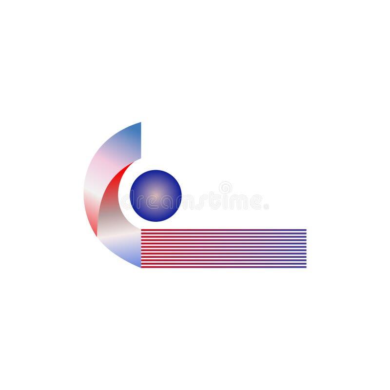 Progettazione astratta di logo di vettore per gli sport Illustrazione di vettore royalty illustrazione gratis