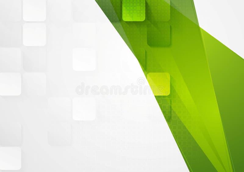 Progettazione astratta di tecnologia con i quadrati illustrazione di stock