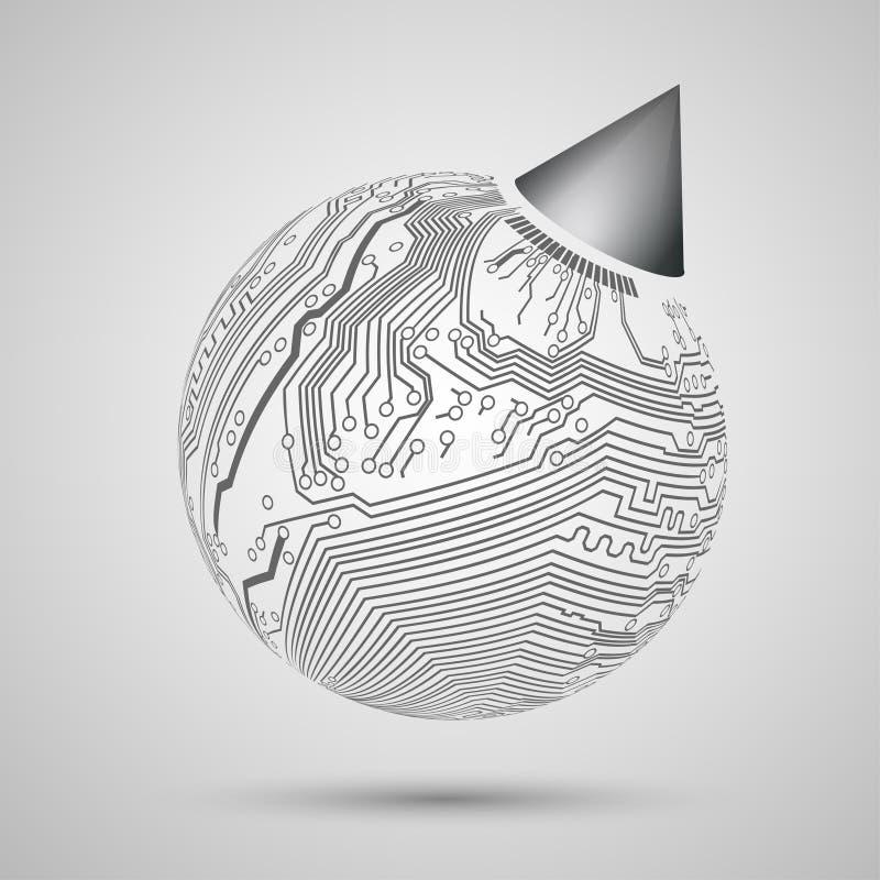 Progettazione astratta di terra, globo per il campione, templa royalty illustrazione gratis