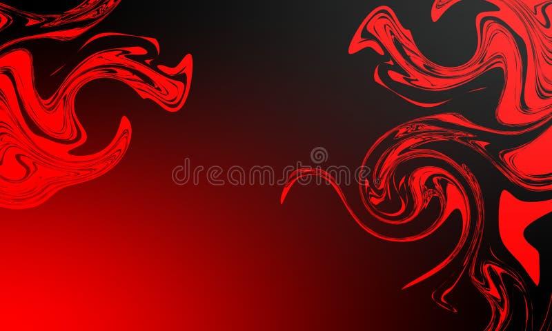 Progettazione astratta di vettore del fondo della sfuocatura rossa e nera, fondo protetto vago variopinto Natale, bokeh illustrazione di stock