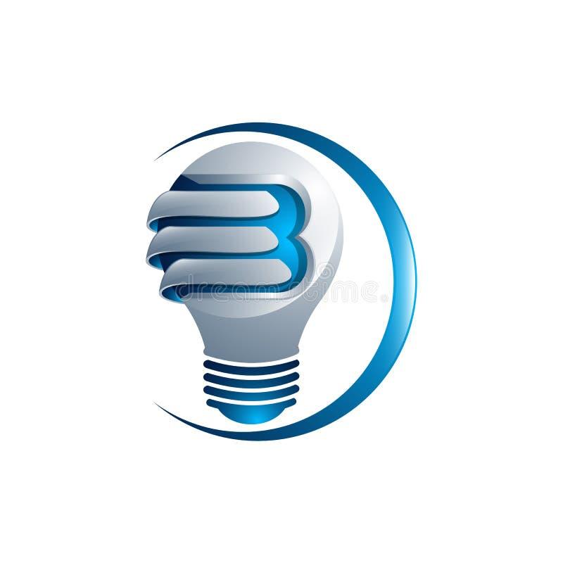 Progettazione astratta fatta dei pezzi di colore - vario g di logo della lampadina royalty illustrazione gratis