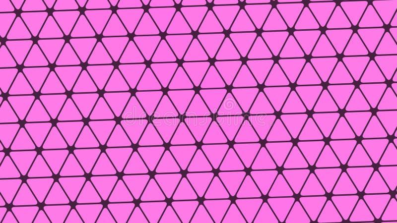 Progettazione astratta, fondo di colore chiaro, modelli geometrici, struttura dei triangoli rosa multipli royalty illustrazione gratis