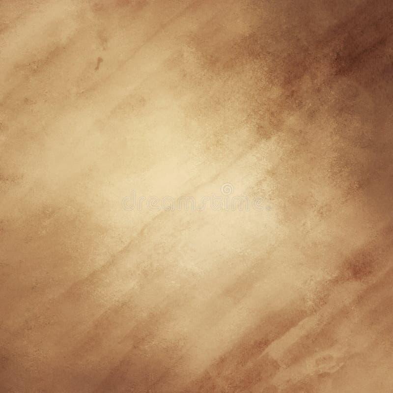 Progettazione astratta marrone del fondo dell'oro con struttura della carta dell'acquerello fotografia stock